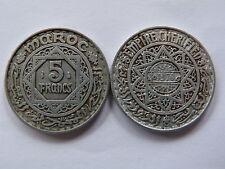 Pièce monnaie MAROC MORROCO 5 frs 1370 aluminium état voir scan