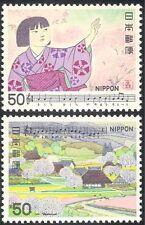 Japan 1980 Songs/Music/Girl/Farm/Flower/Musical Score/Animation 2v set (n25966)