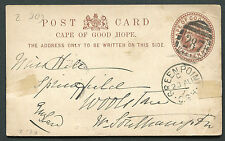 "CAPE OF GOOD HOPE: (12197) GREEN POINT ""287"" cancel/post card"