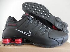 MEN'S NIKE SHOX NZ BLACK-BLACK-RED SZ 10.5 [378341-022]