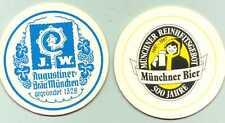 sehr schöner alter Bierdeckel Augustinerbräu München Münchner Kindl   E