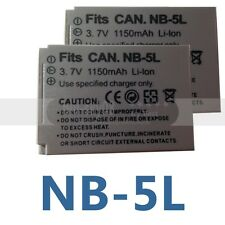 2 Pack NB-5L Battery for Canon PowerShot S100 S110 SX200 SX210 SD990 IS SX230 HS
