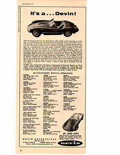 1958 DEVIN KIT CAR ~ ORIGINAL PRINT AD
