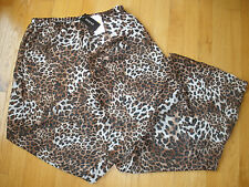 * Womens Guess Size L Large Swim Suit Swimsuit Cover Up Pants Animal Print Sheer