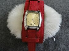 New Soul by Curve Quartz Ladies Watch with a Red Band