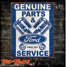 Metal Tin Wall Signs Classic Ford Service Parts Logo Car Garage Advertising  UK