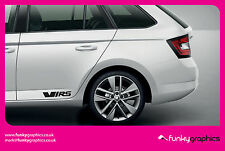 SKODA FABIA OCTAVIA VRS LARGE STICKER, DECAL, GRAPHIC x2 (Choice of colours)