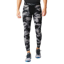 NWT Men's adidas Training Techfit Base Tights Gray Camo 2XL Style (AJ6104)