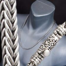"""63g 26"""" HANDMADE WOVEN BRAIDED SNAKE 925 STERLING SILVER MENS NECKLACE CHAIN"""
