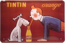Blechschild Tintin Orange Limonade 20 x 30 cm Metallschild 147
