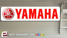 Yamaha Racing Banner – heavy duty for workshop, garage, man cave retro
