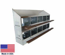 CHICKEN COOP Commercial - Nesting Box  - Roost - 10 Hole - Holds 40 Hens - USA