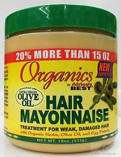 Organics Hair Mayonnaise Extra Virgin Olive Oil 511g