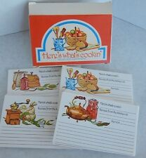 Current Assorted Recipe Cards Vintage 1978 Double Folded Grinder Apples Herbs +