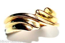 Bijou Bague plaqué or 18 carats modèle contemporain T 54 ring