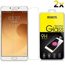 [2-Pack] KHAOS For Samsung Galaxy C9 / C9 Pro HD Tempered Glass Screen Protector