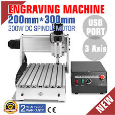 3 ASSI MACCHINA PER INCISIONI USB CNC 3020T 200W CUTTING FRESATURA ON SALE