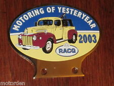FORD utility ute TOW TRUCK JAIL-BAR GRILL RACQ 2003 unused CAR BADGE FREE POST