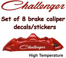 Challenger Dodge Brake Caliper Decals Stickers Vinyl Graphics Logo HIGH TEMP L