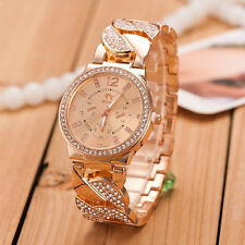 New Fashion Women Girl Watches Crystal Bling Stainless Steel Quartz Wrist Watch