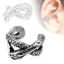New Silver Snake Design Rhodium Plated Non Piercing/Clip-on Ear Cuff (EC14595)