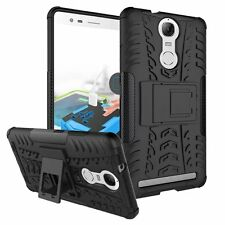 Crytec Shockproof Kickstand Case for Lenovo K5 NOTE  + Free Tempered Glass