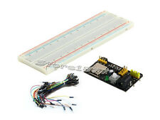 MB102 Power Supply Module +MB-102 830 Point Breadboard +65pcs Jumper Cables s782