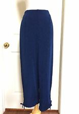 CHICO'S *NEW SIZE 4 (2XL) BLUE ELASTIC WAIST RUCHED LEG  PANTS