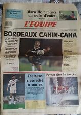 L'Equipe Journal 22/10/1987; Marseille/ Bordeaux/ Orthez/ Leconte/ Vatanen/ Peyr