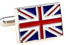 High Quality Cufflinks Union Jack silver Colour Cuff links Flag UK British