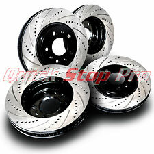 FOR041S Mustang Base GT Performance Brake Rotor NEW F/R 94-04 Drill + Curve Slot