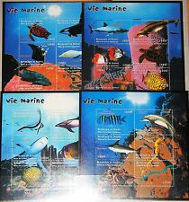 GUINEA 2001 Klb 2996-19 1888-91 Marine Life Fische Fish Sharks Haie Delphins MNH