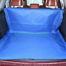 Blue Fabric Car Hatchback Pets Dogs Cats Cargo Liner Protector Organizer Cover