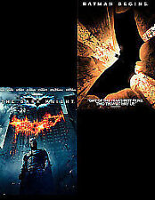 The Dark Knight / Batman Begins (Double Pack)   Blu-ray Christian Bale, Heath