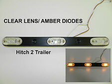LED ID BAR Light CLEAR /AMBER (3) 2-Diode surface mount trailer Submersible