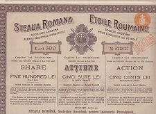 2 Stück:Rumänien:Steaua Romana-Soc.Anonima Pentru Industria Petroleului-1921