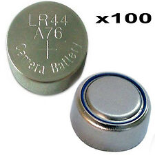 100 x Button cells watch camera LR44 SR44 L1154 357 A76 AG13 Alkaline batteries