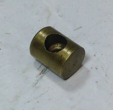 "THROTTLE / BRAKE CABLE BRASS FERRULE NEW OLD STOCK .448"" LONG .354"" DIA"