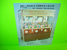 Big Choice Belgium Triple Skill Crane Original Arcade Claw Prize Game Sale Flyer