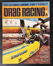 Drag Racing USA Magazine Nov 1972 - VW Lightning Bug - NHRA - PDA - Hemi Opel