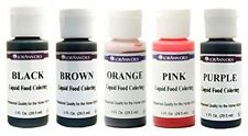 Lorann Oils Liquid Food Coloring - Specialty Colors - Set of Five 1 OunceBottles