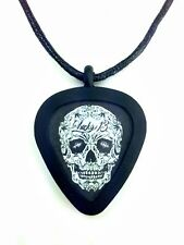 GUITAR PICK Necklace by Pickbandz PICK HOLDER in Black w/Lucky 13 guitar pick