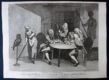 Debates on Palmistry HOGARTH Antique print 1782 Handlesekunst Hand lesen HAYNES