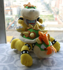 2x Super Mario Bros son Jr and King Koopa Bowser Plush Soft Doll X'mas Toy
