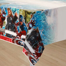 """NEW Marvel Avengers Birthday Plastic Table Cover 54"""" x 96"""" Party Supplies~"""
