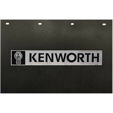 """Kenworth Trucks 24"""" x 15"""" Black & Silver Poly Semi Truck Mud Flaps-Pair"""
