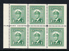 CANADA 1942-48 1c BOOKLET PANE SG 375b MNH.