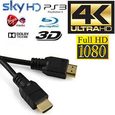 10M Metre HDMI HD 1080P Version 1.4 Gold Lead Cable Cord for PS3/4 SKY TV 3D