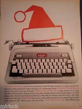 1959 Royal Futura Electric Portable Typewriter Santa Claus Hat Art  Original Ad