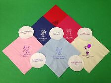 50 X PERSONALISED NAPKINS & COASTERS. WEDDING, ANNIVERSARY, PARTY